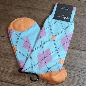 Neiman Marcus Men's Cotton Luxe Dress Socks